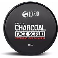 Beardo Activated Charcoal Anti-Pollution Face Scrub for Men | Exfoliating Scrub for Deep SKin Cleansing | Blackhead…