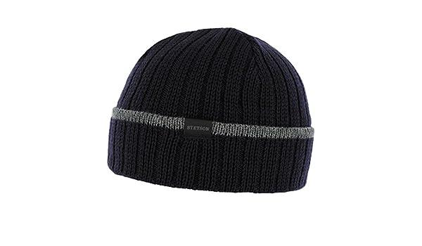 Seminole Merino Wool Hat Stetson rib beanie rib knit (One Size - blue)   Amazon.co.uk  Clothing 4f8a67071684
