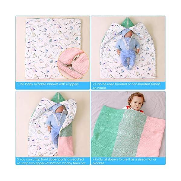 Haokaini manta de pañales para bebés recién nacidos silla de paseo envolvente cambiable saco de dormir estera de saco de dormir de invierno cálido y grueso ajustable