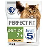 Perfect Fit Chicken Senior Cat Complete Dry Food, 750 g - Pack of 3 (Total 2.25 kg)
