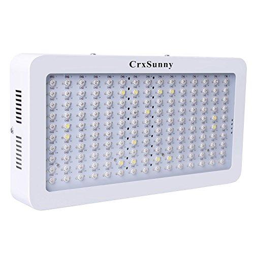 CrxSunny 1500W Doppelchips LED Grow Light LED Pflanzenlampe Full Spectrum Wachsen für Zimmerpflanzen Gemüse und Blumen (10w LEDs)