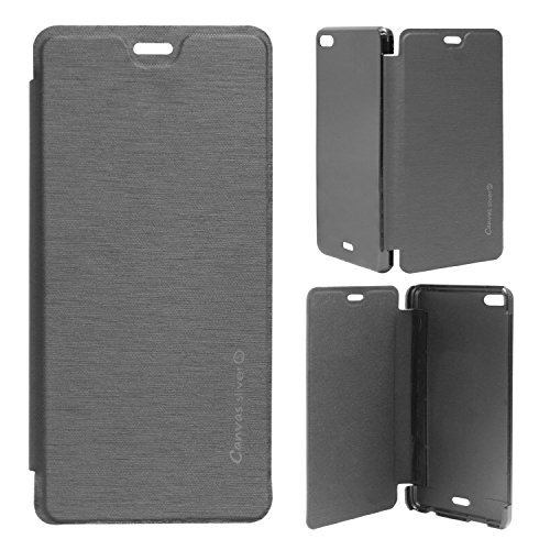 CHL Durable Flip Cover For Micromax Canvas Silver 5 Q450