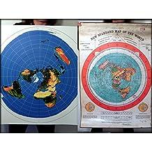 2 Flat Earth Poster Prints - Gleasons New Standard Map of the World 1892 + Azimuth Equidistant USGS Radar Map - 40x30 inch (101x76 cm) PVC Weatherproof Tarpaulin - Indoor/Outdoor Use