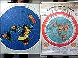 Flat Earth-Gleasons Nouveau Standard carte du monde 1892+ Azimut Équidistants Radar Map-101,6x 76,2cm (101x 76cm) en PVC résistant aux intempéries Bâche...
