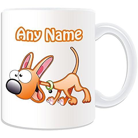 Personalizzato Regalo–Happy Dog Tazza # 2(animali, motivo design, colore: bianco,