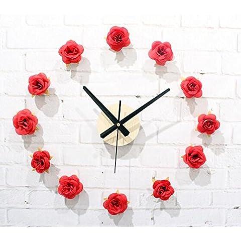 FEI&S Creativo de Arte Moderno Reloj de pared Reloj de pared sólidos Diseño Moderno salón y dormitorio pared Watche #6
