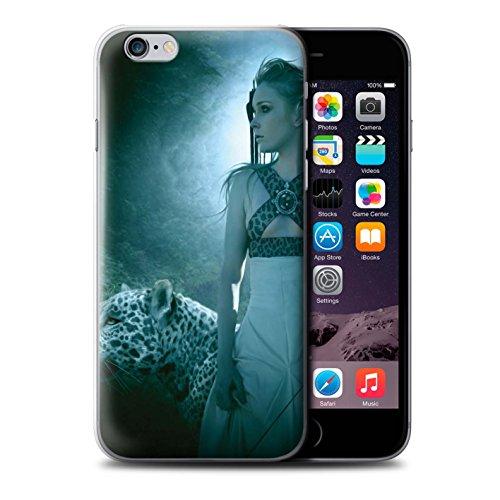 Officiel Elena Dudina Coque / Etui pour Apple iPhone 6S+/Plus / Le Voyageur/Manchot Design / Les Animaux Collection Félins/Léopard/Guerrier