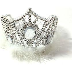 Niñas Tiara Corona adornos de piel sólido disfraz de Jewel pelo Band cumpleaños para despedida de soltera