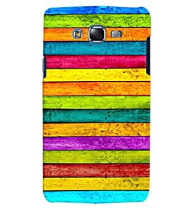 Citydreamz Multicolor Stripes/Rainbow Colors Hard Polycarbonate Designer Back Case Cover For Samsung Galaxy On7