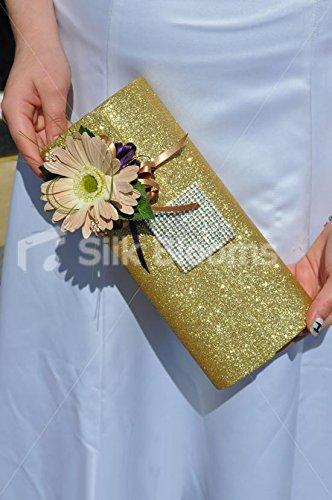 Splendida artificiale nude Fresh touch gerbera wedding bag corpetto W/cristalli - Bag Corpetto