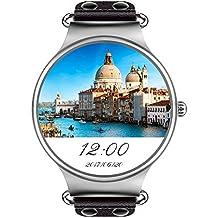 """8 GB ROM,512MB RAM MTK6580 3G WIFI Smartwatch Teléfono Todo en uno Bluetooth Smart Watch con GPS, Cámara, Monitor de Ritmo Cardiaco,Reloj Pulsera Deportiva Compatible con Android 5.1 Smartphones,pantalla 1.39"""",Quad-Core 1.3GHz"""