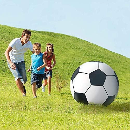 AMhuui Riesiger aufblasbarer Soccerball, großes Fußball-Pool-Spielzeug -