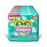 Pampers Baby Dry Duo Maxi, 208 Pannolini, Taglia 4 - Maxi (7-18 kg)