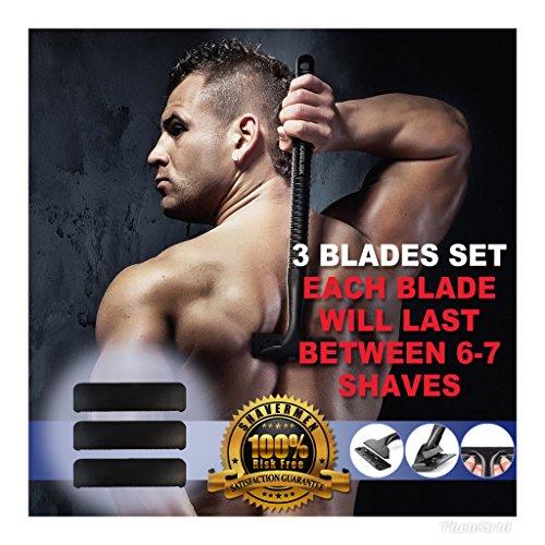 Hojas de repuesto para Afeitadora de Espalda Corporal para Hombre de Shavermen...
