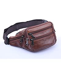 Buyworld 2017 Cowhide Genuine Men Waist Packs Fanny Pack Belt Bag Phone Pouch Bags Travel Pack Male Small Waist... - B07F5W7QZY