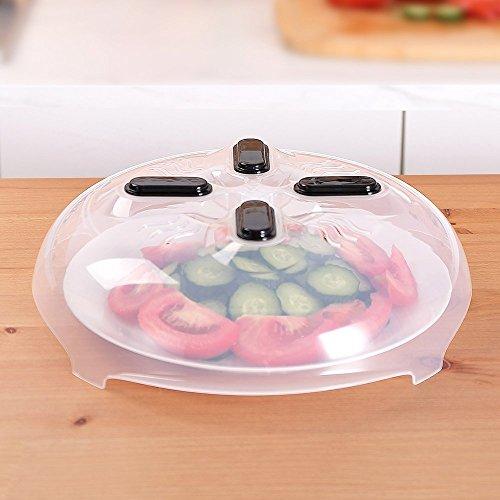 Für Bpa Frei Mikrowellen-abdeckhaube Lebensmittel, (Mikrowelle, Lebensmittel Spritzschutz Magnetische anti-spray BPA freie Pfanne Teller Deckel mit dampfablass 30cm)