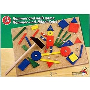 Marionnette Wooden Toys - 89165 - Jouet de Premier Age - Jeu de Clous et Marteau x67