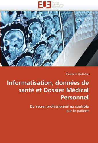 informatisation-donnees-de-sante-et-dossier-medical-personnel