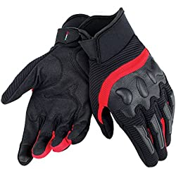 Dainese-AIR FRAME UNISEX Guantes, Negro/Rojo, Talla M