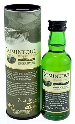 Tomintoul Whisky Peaty Tang 0,05l Miniatur inkl. Geschenkdose - Single Malt Scotch Whisky