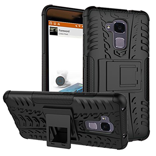Preisvergleich Produktbild Huawei Honor 5C Handy Tasche, FoneExpert® Hülle Abdeckung Cover schutzhülle Tough Strong Rugged Shock Proof Heavy Duty Case für Huawei Honor 5C (Schwarz)