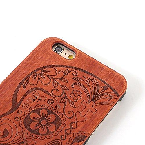 iphone SE Cover, G-i-Mall Ultra Sottile Vero legno Hard Back Wood Custodie Protettiva PC Bumper Cover Caso Per Apple iphone 5 5S SE Smartphone Shell - Wooden Cover#6 Wood Cover #11