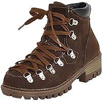 Beladla Zapatillas Casual Mujer Botas Pieles Forradas De CañA Alta Moda CóModas Calzado Andar Zapatos Planos Botines Calentar Botas De Nieve Anti-Deslizante Lazada Zapatillas Boots De Trabajo