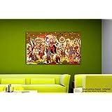 Tamatina Rajasthani Canvas Paintings - Wedding Of Shiva & Parvati - Religious Canvas Art - Rajasthani Traditional Paintings - Paintings For Bedroom - Paintings For Living Room - Traditional Canvas Paintings - Rajasthani Paintings For Wall