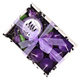 #6: HOKIPO® Sweet Scented Candles with Holder, 6 Candles, Lavander Fragrance
