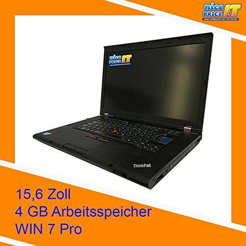 'Lenovo ThinkPad T510-portatile da 15.6, Intel Core i5-560M, 4GB di RAM, Disco HDD da 250GB, Intel HD Graphics, Windows 7), Nero