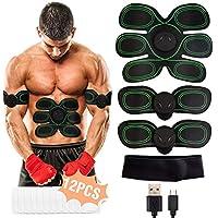 Electroestimulador Muscular Abdominales WiMiUS Cinturon Electroestimulador Muscular, USB Recargable, 10 Niveles & 8 Modos, Estimulador muscular Ejercitar Abdomen/Brazo/Piernas/Cintura, Hombre y Mujer
