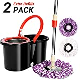 Best Spinning Mops - 360° Spinning Mop Bucket Set-with 2 Microfiber Mop Review