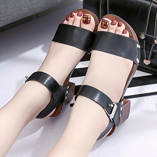 Amlaiworld Estate donne tacchi alti sandali confortevole moda nero