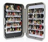 G Fly Box Inc Nymphen-Sortiment zum Forellenangeln - Größe 8, 10, 12, 14, 16oder 18, Anzahl: 10, 25, 50, 100, Box+ (25x Flies, Size 12)