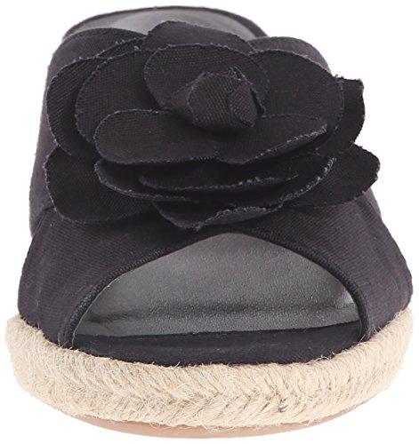Life Stride Omega Femmes Large Toile Sandales Compensés Black