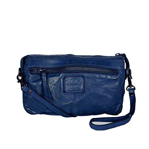 Bear Design Borsa a tracolla CL32663 intrecciato, in pelle lavata Blue