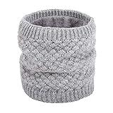 ANGTUO Sciarpa lavorata a maglia unisex, Foulard invernale con collo a scialle spesso e avvolgente. Sciarpe a filetto Infinity per uomo e donna - Miglior regalo