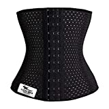Grasshopr Women's Waist Slimming Corset 3 Hooks Girdle with Spiral Steel Bone