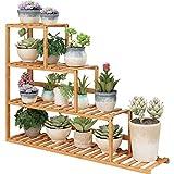GZYQYIHJB Installazione Conveniente A più Strati del Vaso del Fiore del Davanzale Materiale di bambù del Supporto del Fiore del Supporto di Fiore del Supporto di Pianta