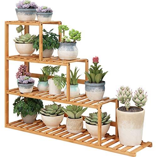 GZYQYIHJB Mehrschichtige PflanzenstäNder-AusstellungsblumenstäNder Bambusmaterial Gesundheit Und Umweltschutz Fensterbank-Topfgestell Bequeme Installation
