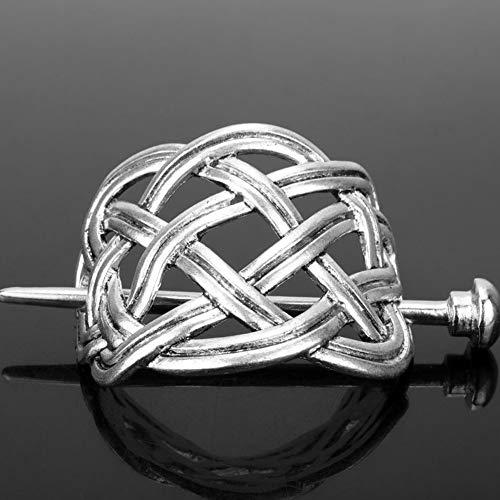 Damen Haarnadel, keltisches Retro-Design, klassische Metalllegierung, große Knoten, Krone Haarnadel, Haarspange für Festival, Kostüm und Geschenk #0093 Wie abgebildet