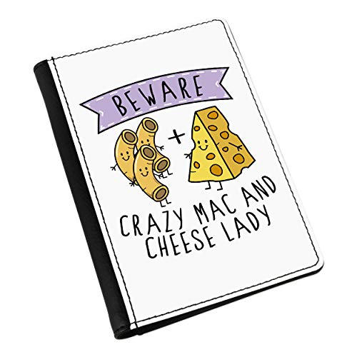 Beware Crazy Mac and Cheese Lady Passport Holder Cover