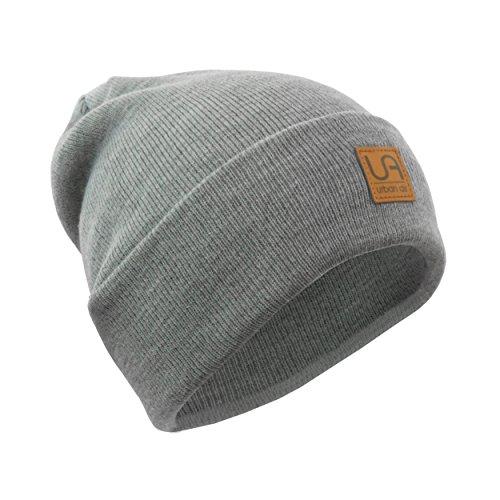 urban air | Street Classics | Beanie, Mütze | Damen, Herren | mit Lederpatch | in schwarz, dunkel grau, hell grau, dunkel blau oder weinrot
