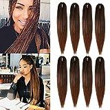 (55.8cm, 8 Packs) Crochet Braids Bouclé Pré Étiré Tissage Hair Extension EZ Braid Synthétique Fibre Perruque Crochet Tresses Démangeaisons Gratuit Twist Braid pour Femmes