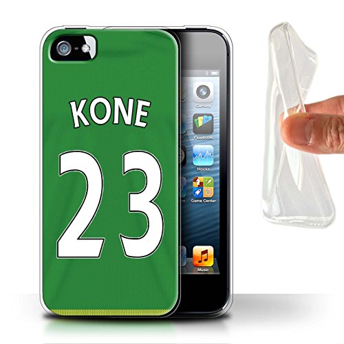 Officiel Sunderland AFC Coque / Etui Gel TPU pour Apple iPhone SE / Pack 24pcs Design / SAFC Maillot Extérieur 15/16 Collection Kone