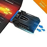 ADVITECK WIND+ 2018 - Refroidisseur PC Portable Gamer le Plus Simple - Ventilateur Extracteur d'Air Silencieux - Compatible Avec Ordinateurs de 11 à 19 pouces (USB) - Mode Manuel Puissant