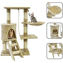 Todeco Árbol para Gatos, Escalador para Gatos - Material: MDF - Tamaño de la