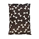 "Dog Bed Pet Supplies Large Extra XL Size Zip Cover With Inner Cushion Free P&P (Large (29""x39""inches), Brown Bones)"