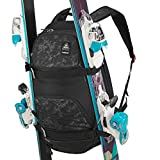 Wed'ze Skiing & Snowboarding Backpack with Ski/Board straps (Black)