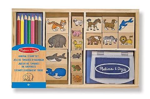 Melissa & Doug 13798 Wooden Stamp Set, Animals - 16